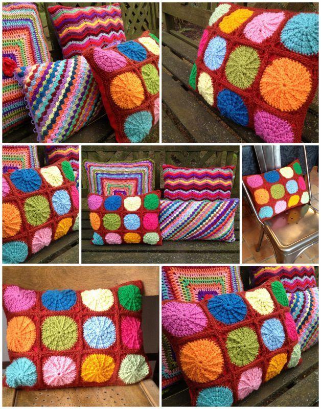 coussins au crochet faire du crochet et du tricot. Black Bedroom Furniture Sets. Home Design Ideas