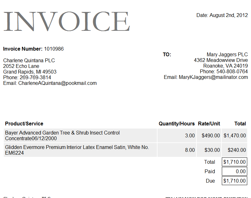 Download Invoice Template for Word Invoice Template – Invoice Sample Format