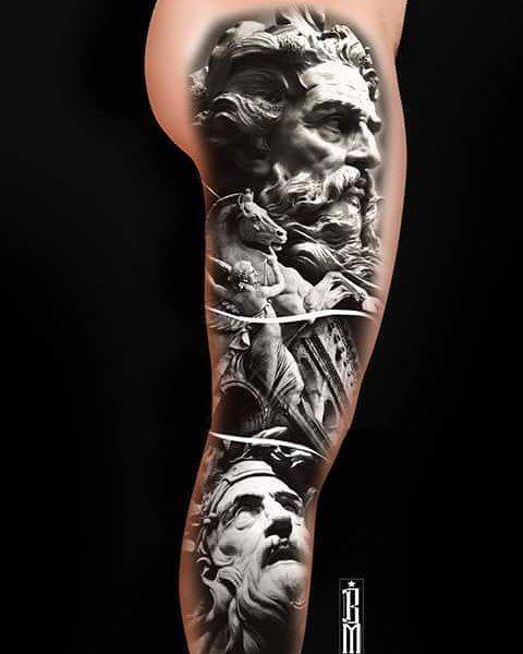 Greek Tattoo Ideas: One.of.my Favorite Designs #Zeus #Greek #gods #tattoo