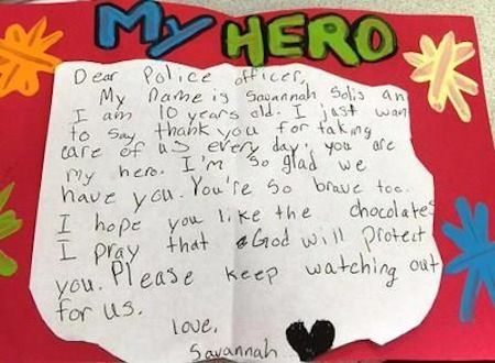 10-Year-old Girl Thanks Police Officers With 200 Hand Made Cards ...