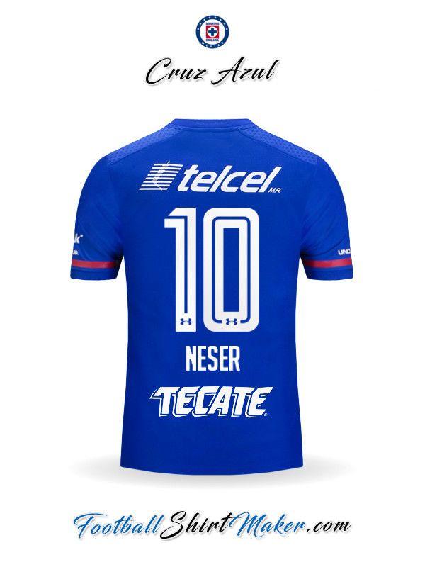 Camiseta Cruz Azul 2017 2018 Neser 10  7be5da79e5d