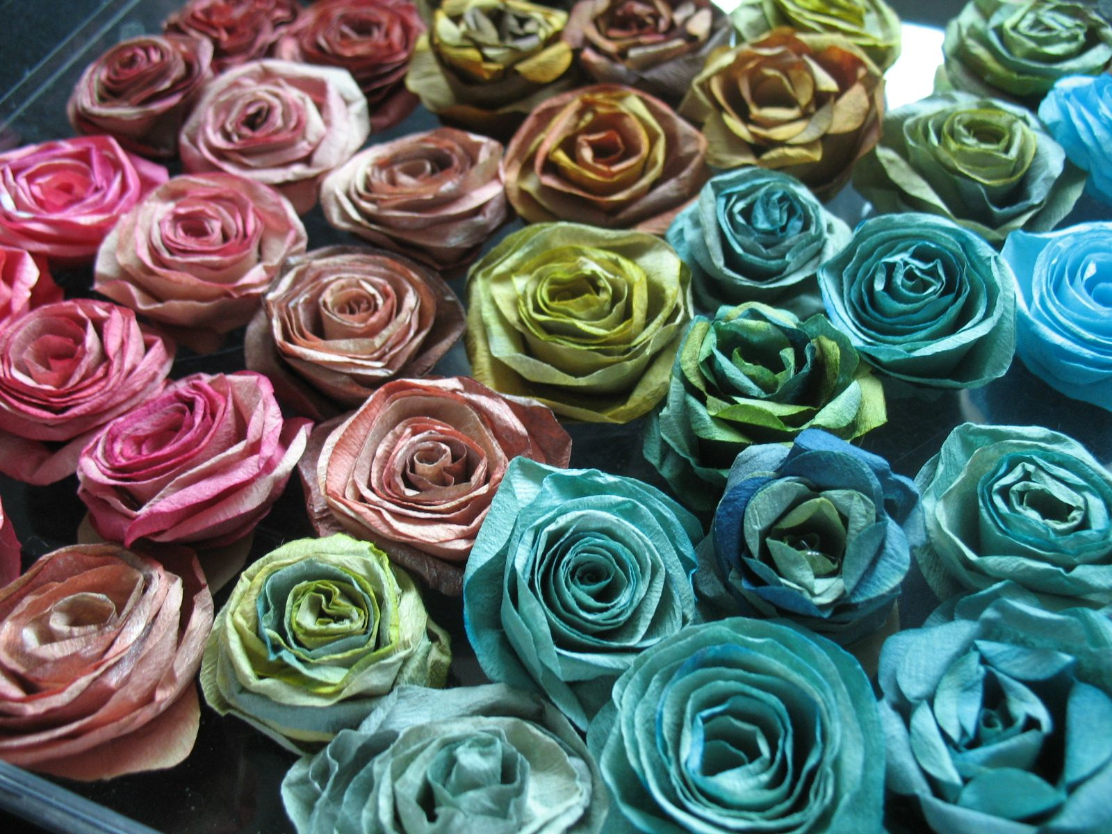 Imagine If A Gradient Of Paper Roses Completely Filled An Acce
