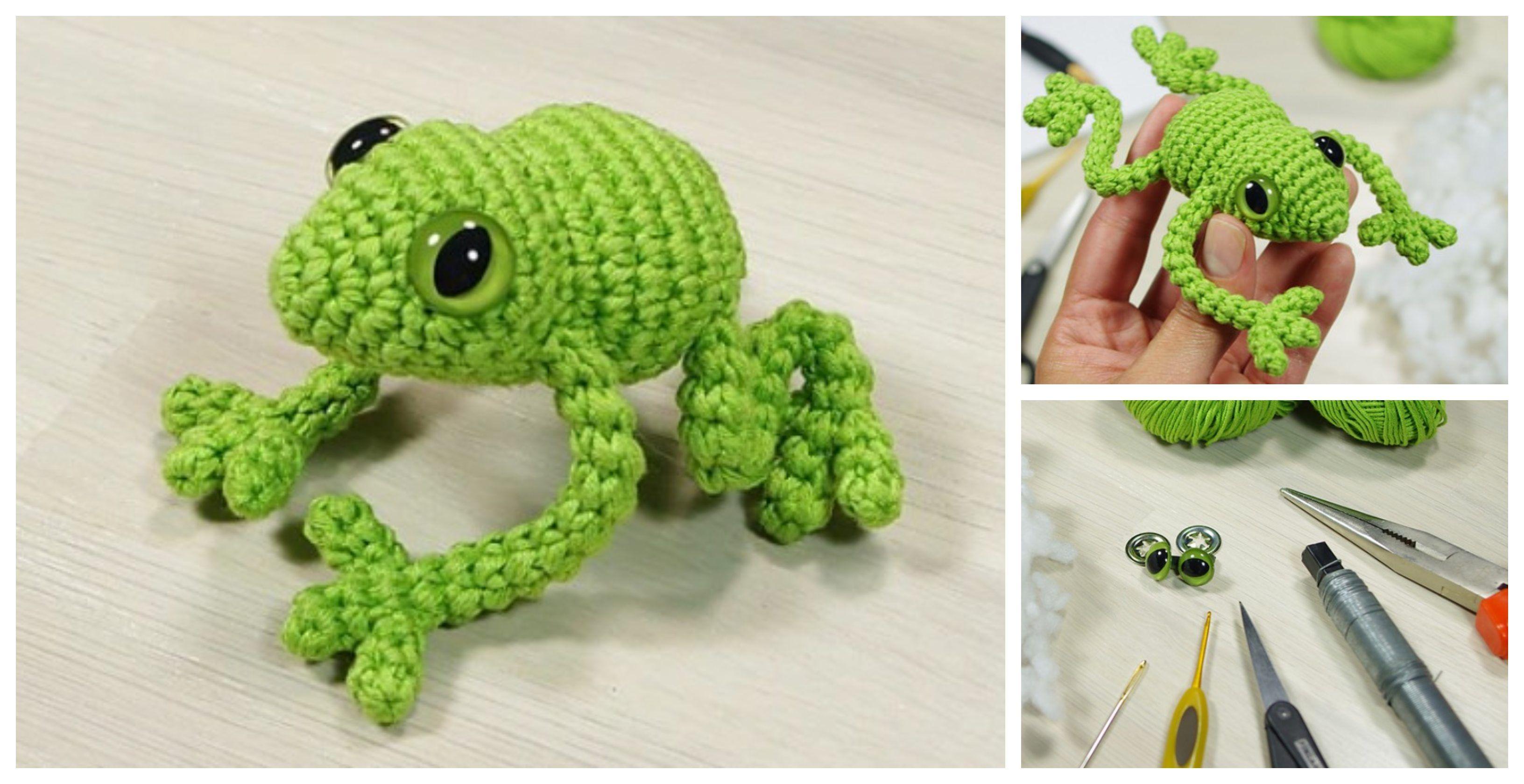Crochet Frog - Free Pattern | Crochet frog, Crochet ...