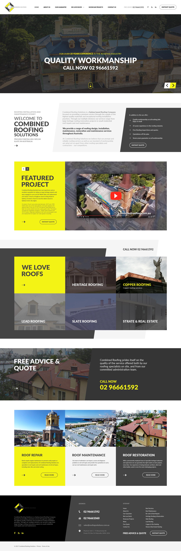Roofing Website Design Concept Roofing Website Design