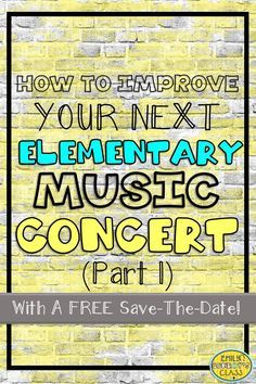 This blog post contains a FREE editable Save the Date for your next concert along with great tips and tricks for easing the stress of your next music program