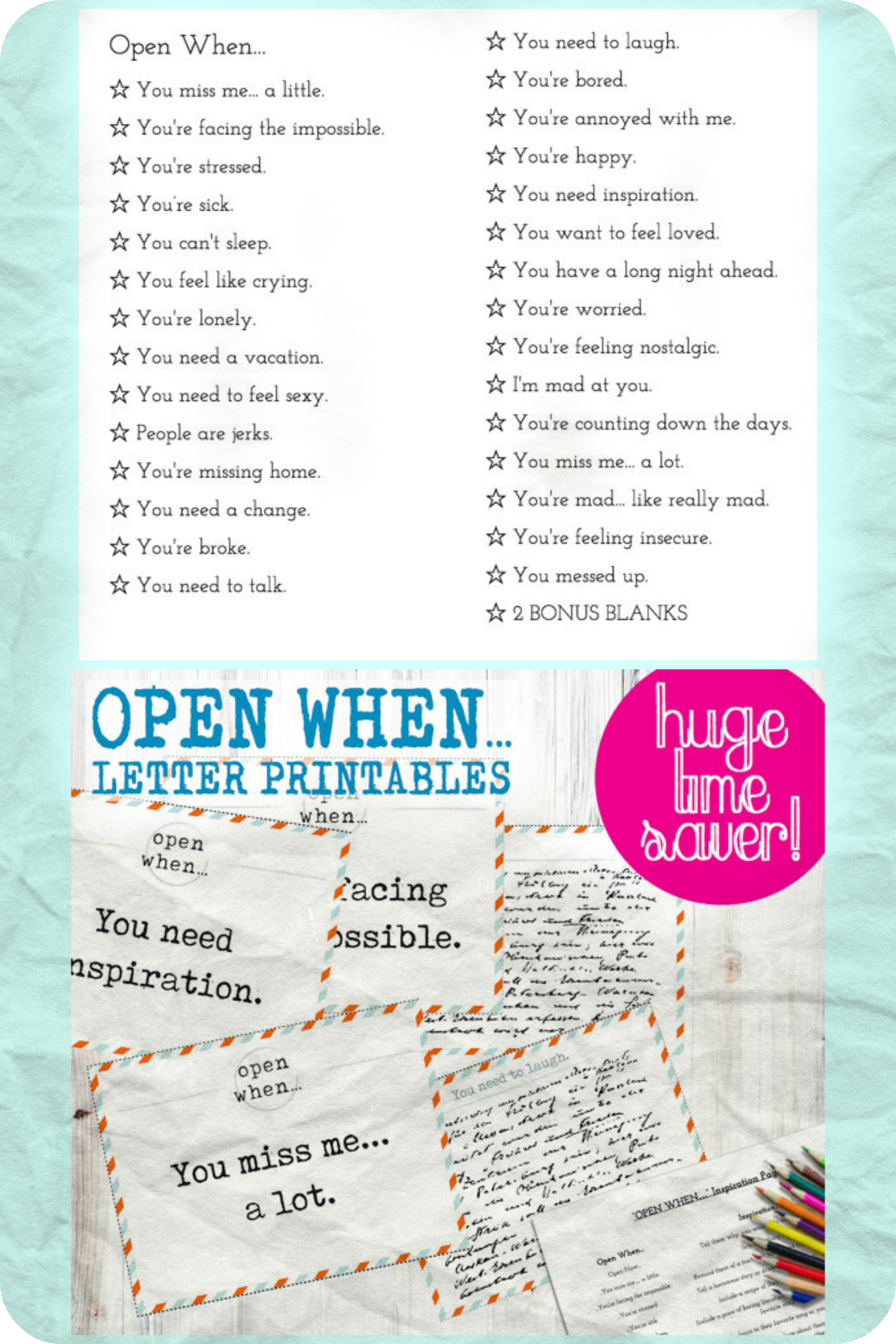 30 open when letter pre made printables print instantly to save time envelope covers blank cards inspiration page envelope template ad etsy