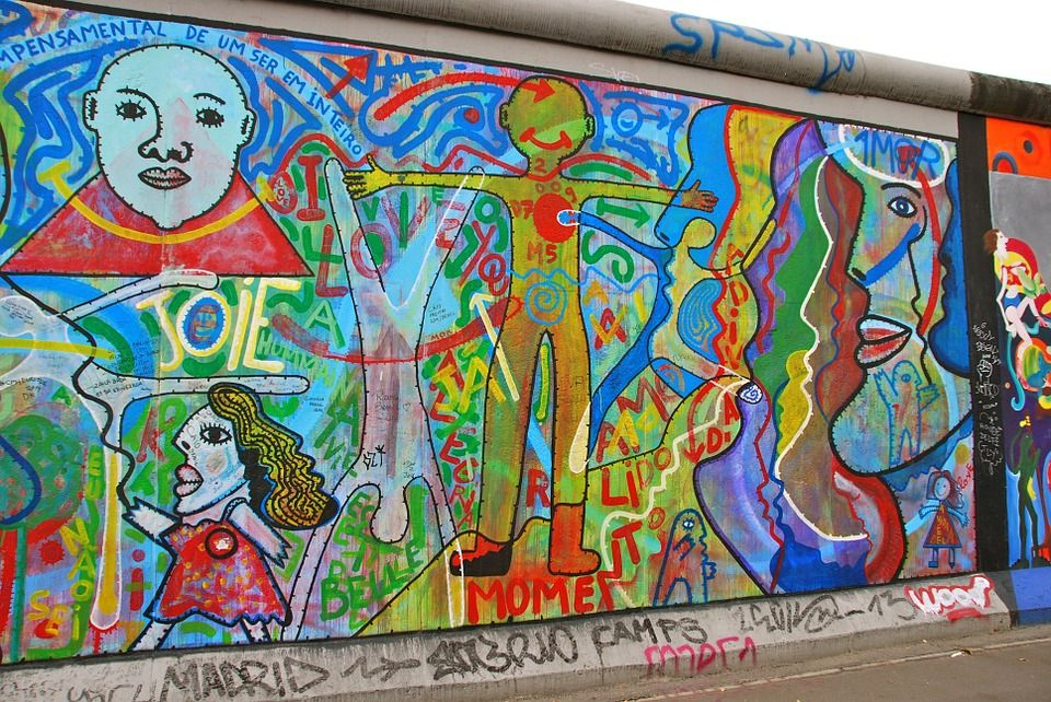 Free Image On Pixabay Berlin Wall Graffiti Painting Berlin Wall Painting Graffiti