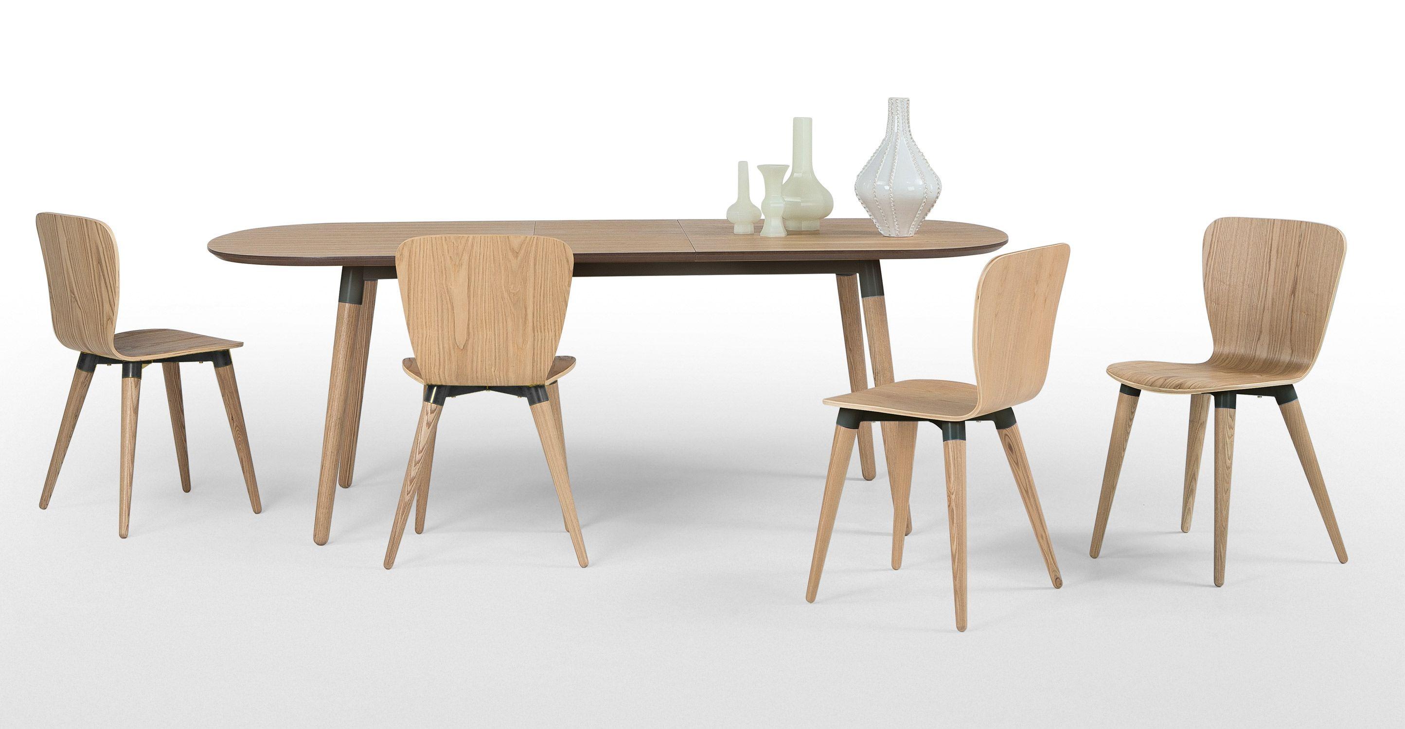 Made.com, Edelweiss, ausziehbarer Esstisch mit Stühlen ...