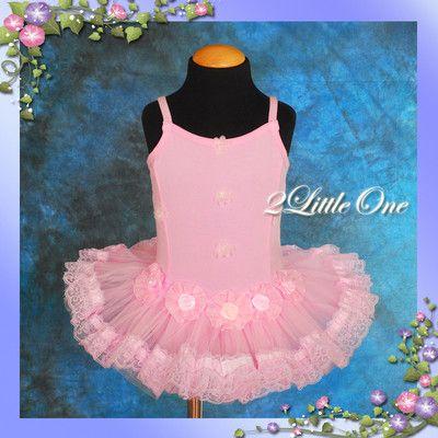 63f5bf6aa Girl Pink Ballet Tutu Dance Costume Fairy Fancy Dress Leotard ...