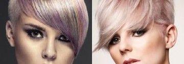 Blonde Kurzhaarfrisuren mit pastellfarbenen Akzenten werden wir die kommende Jahreszeit viel sehen!