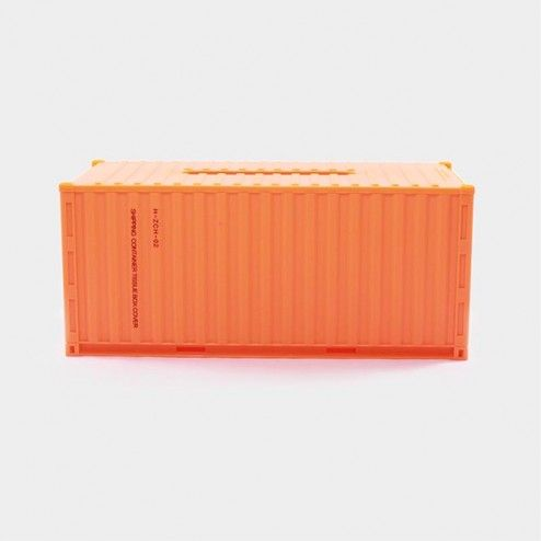 Container Tissue Box Orange