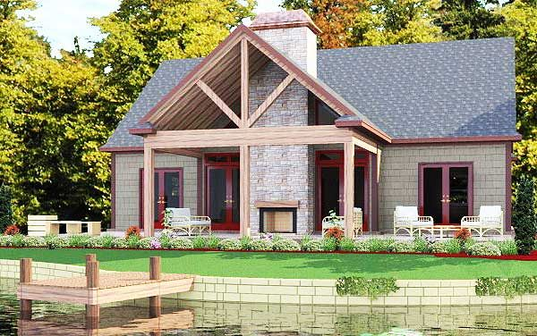 Plan 86207hh 2 Bed Cottage With Vaulted Porch Cottage House Plans House With Porch Cottage Plan