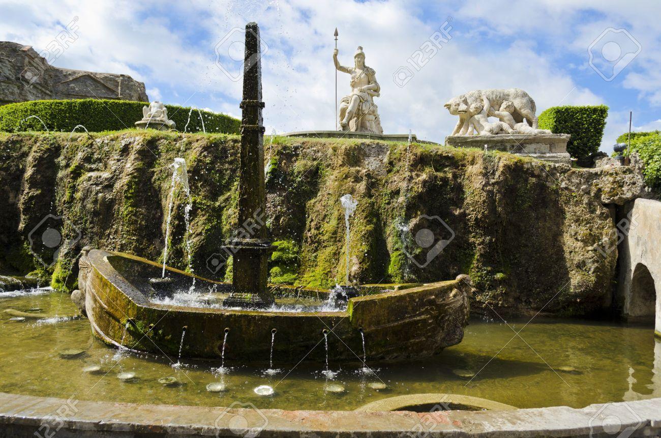 Fontana della Rometta in the Gardens of Villa d Este in Tivoli ...