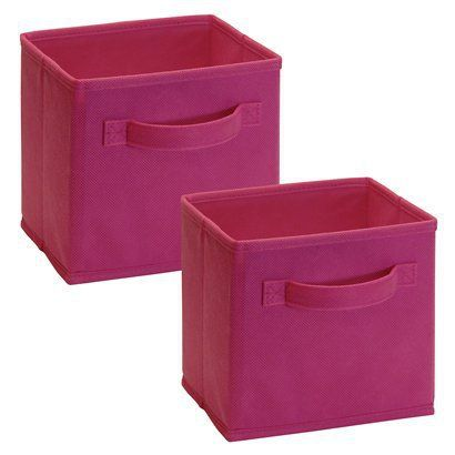 Closetmaid Mini Fabric Drawer Set Of 2 Fuschia Opens In A New Window With Images Fabric Drawers Cube Storage Bins