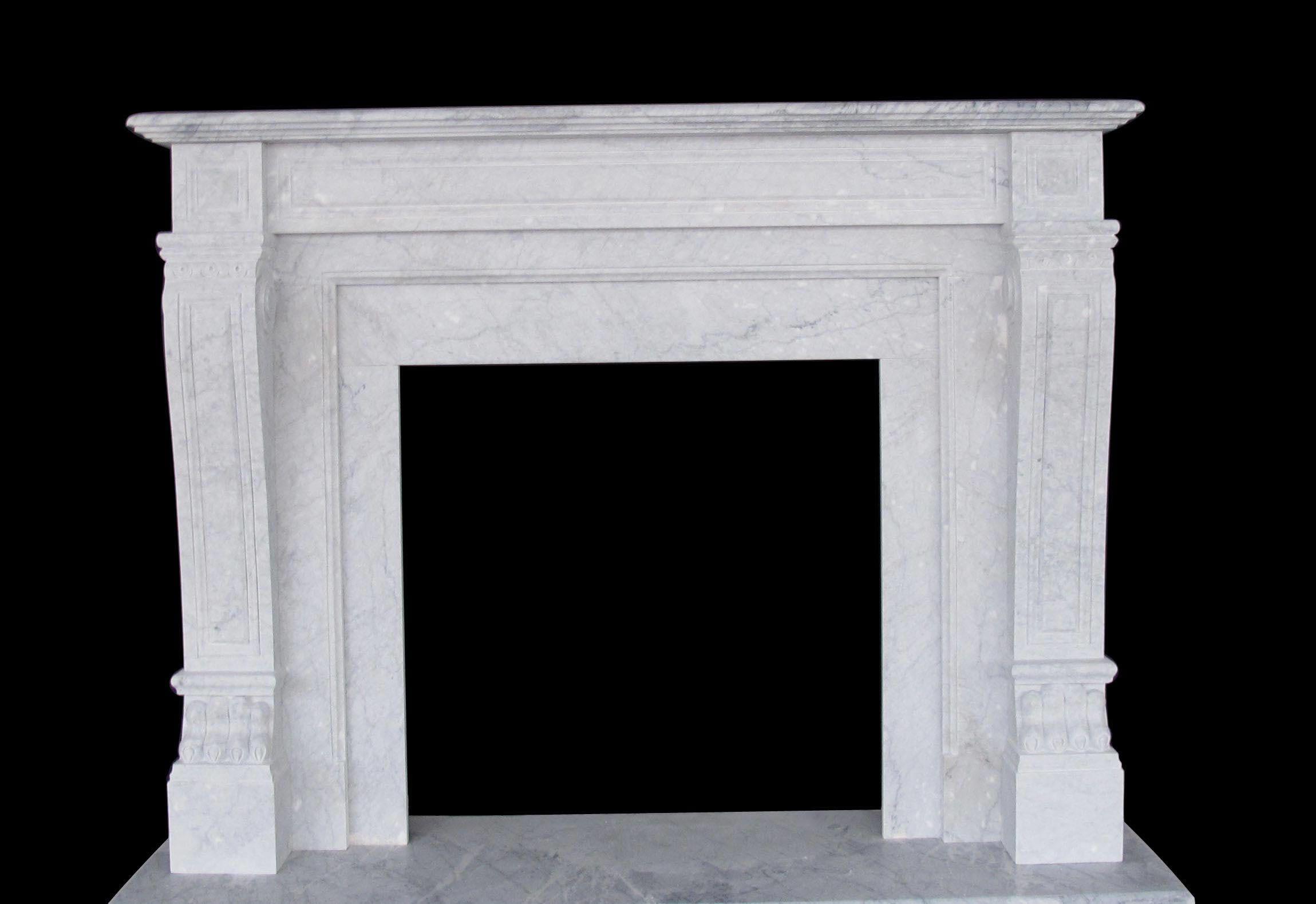 Italian Regal Marble Fireplaces Sale - Carrera White Mantels,  #Carrera #farmhousefireplacemantelsfrenchcountry #Fireplaces #Italian #Mantels #Marble #Regal #Sale #White