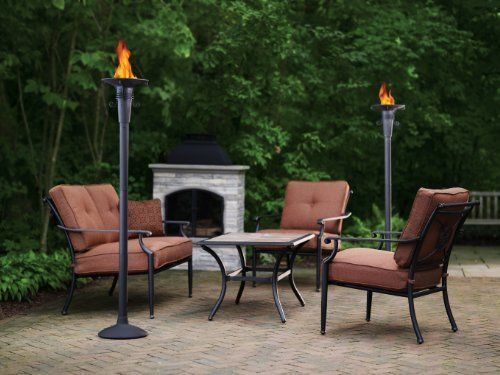 Patio Torch Large Flame Garden Deck Restaurant Outdoor Decor No Touch Technology