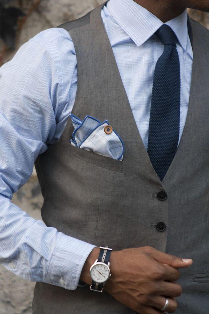 1001 ideen thema grauer anzug welches hemd passt dazu herrenmode pinterest blaues hemd. Black Bedroom Furniture Sets. Home Design Ideas