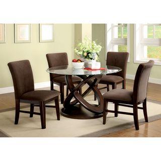 Furniture Of America Keystone 5 Piece Espresso Finish Dining Set