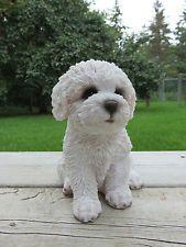 Bichon Frise Puppy Dog Figurine Resin Statue Dogs Canine Ornament Bichon Frise Dogs Dogs Puppies