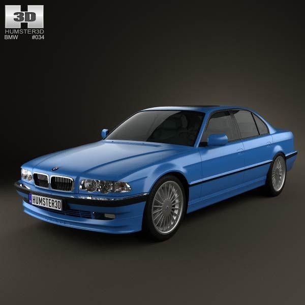 3D model of BMW 7 Series B12 Alpina 1999 Bmw 7 series
