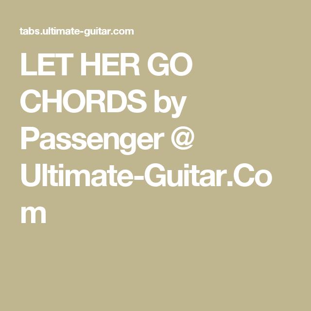 passenger let her go acordes