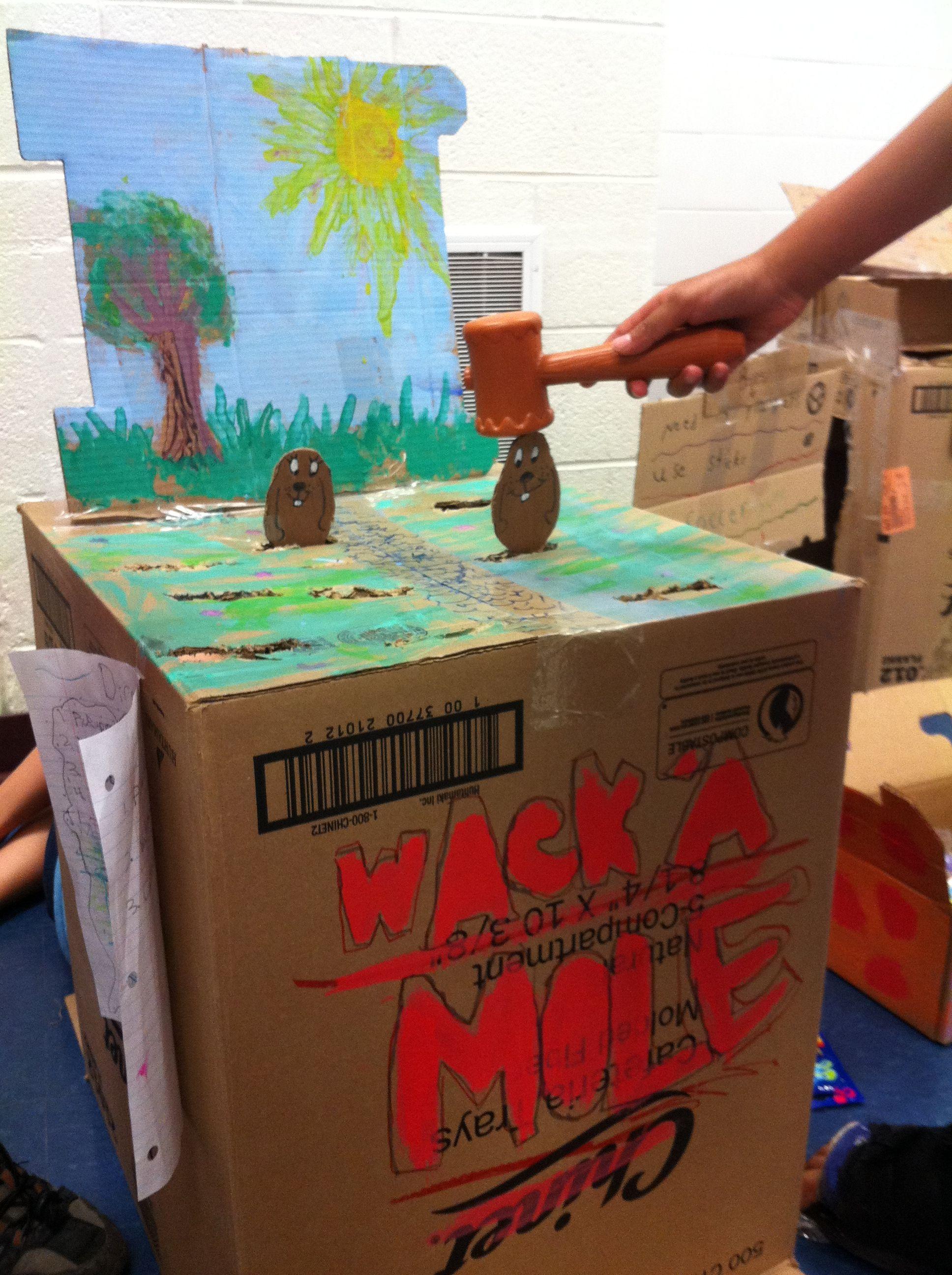 Diy cardboard carnival games