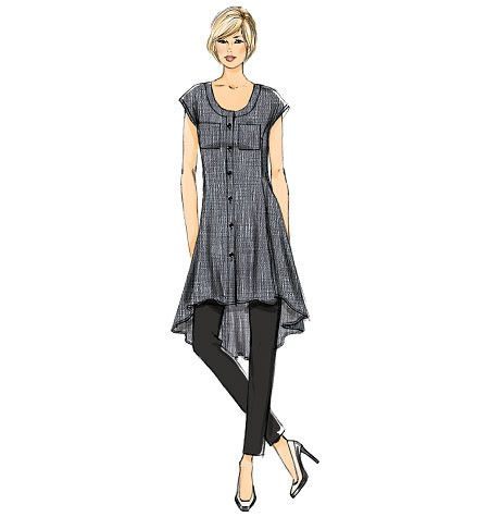Vogue Sewing Pattern: V8983 Misses\' Tunic Dress & Pants | Very Easy ...