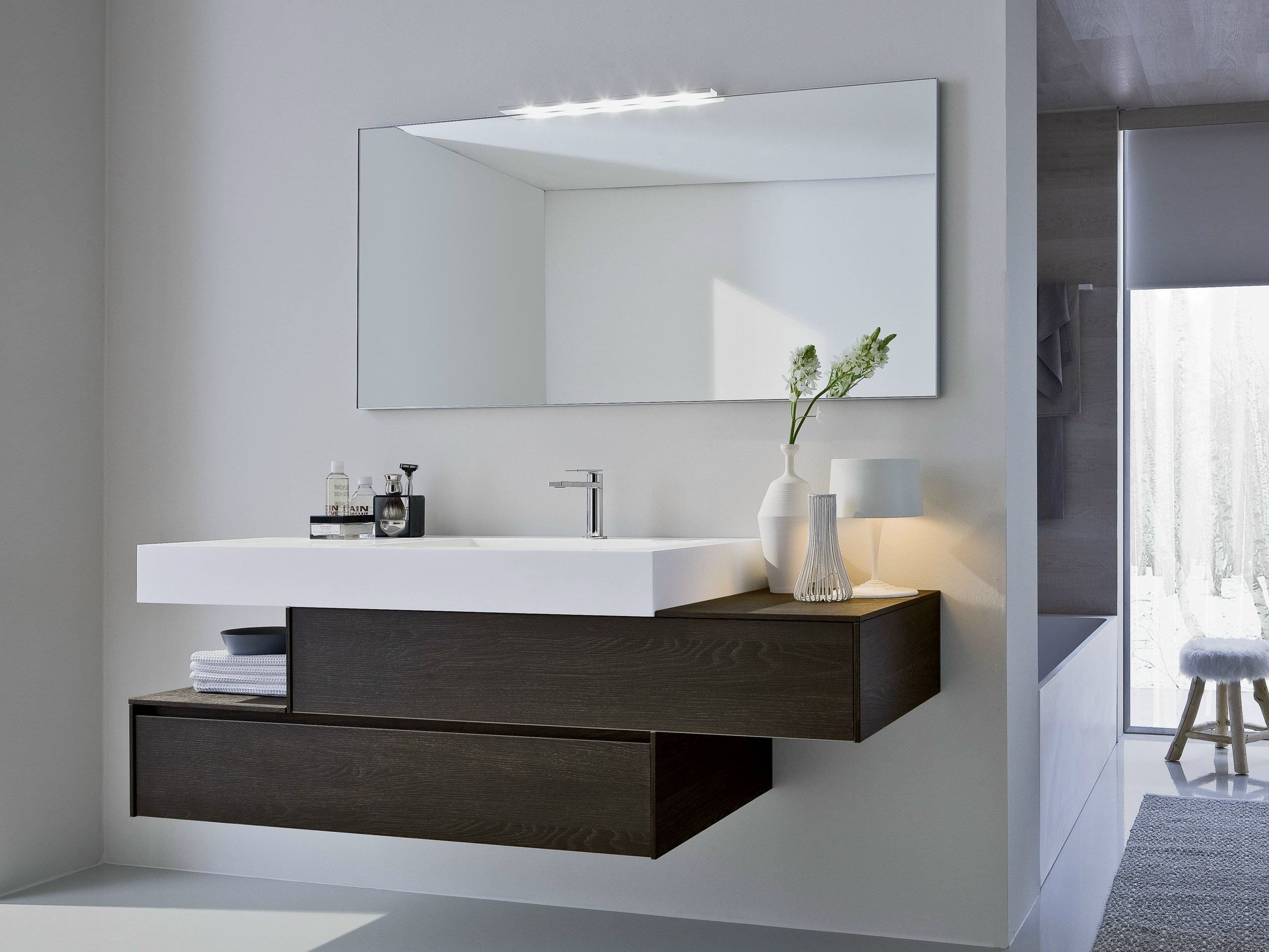 Mueble bajo lavabo con cajones con espejo COMP N02