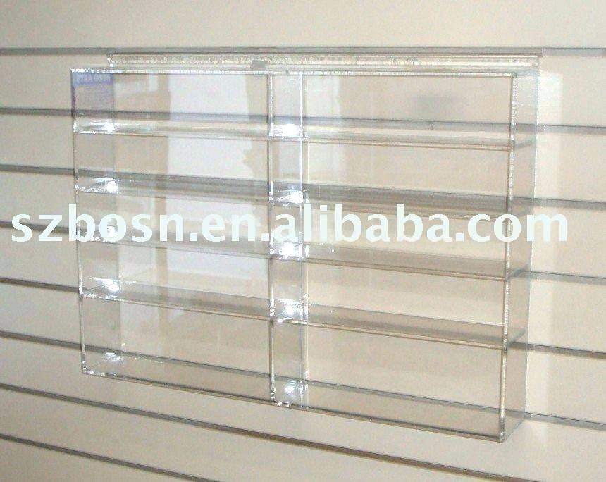 Alternative to display case baseball bat wall mount hanger Rack clear Acrylic