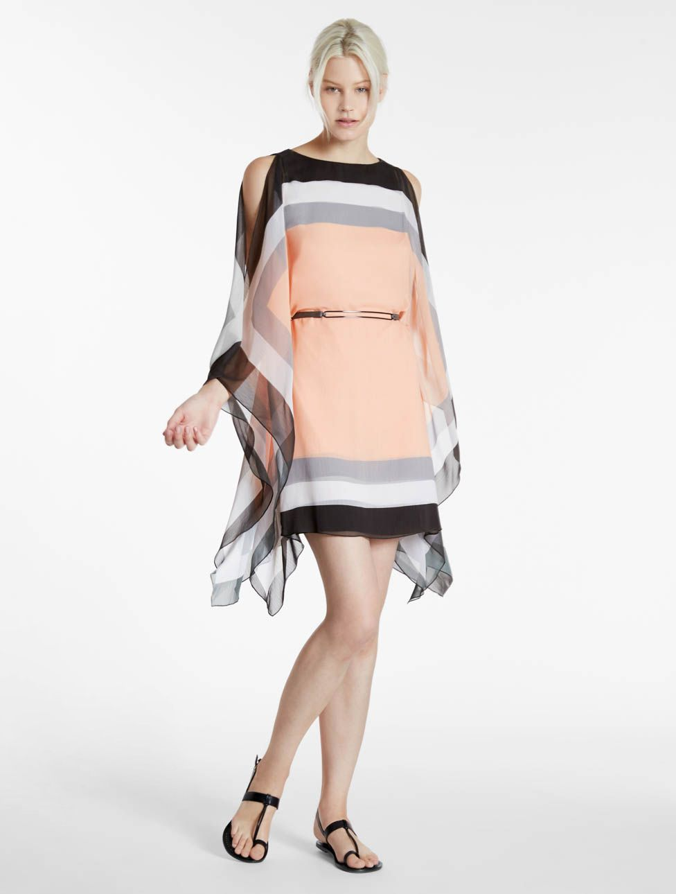 8ed7b7fdb90 Scarf Printed Crinkle Chiffon Dress