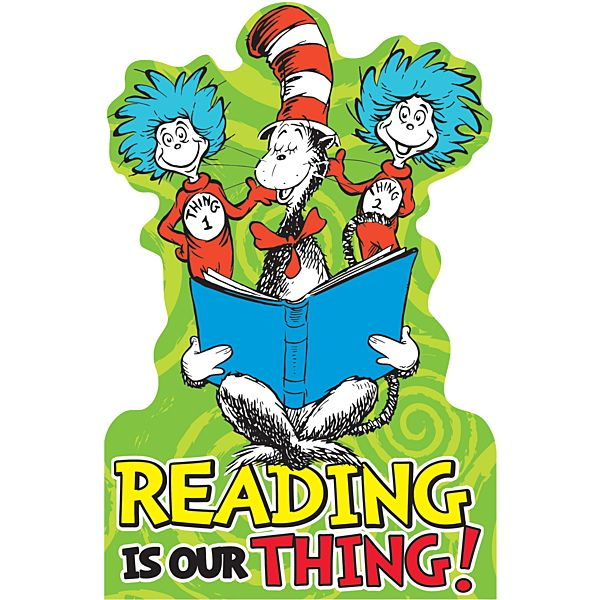 Image result for free dr. seuss clipart reading