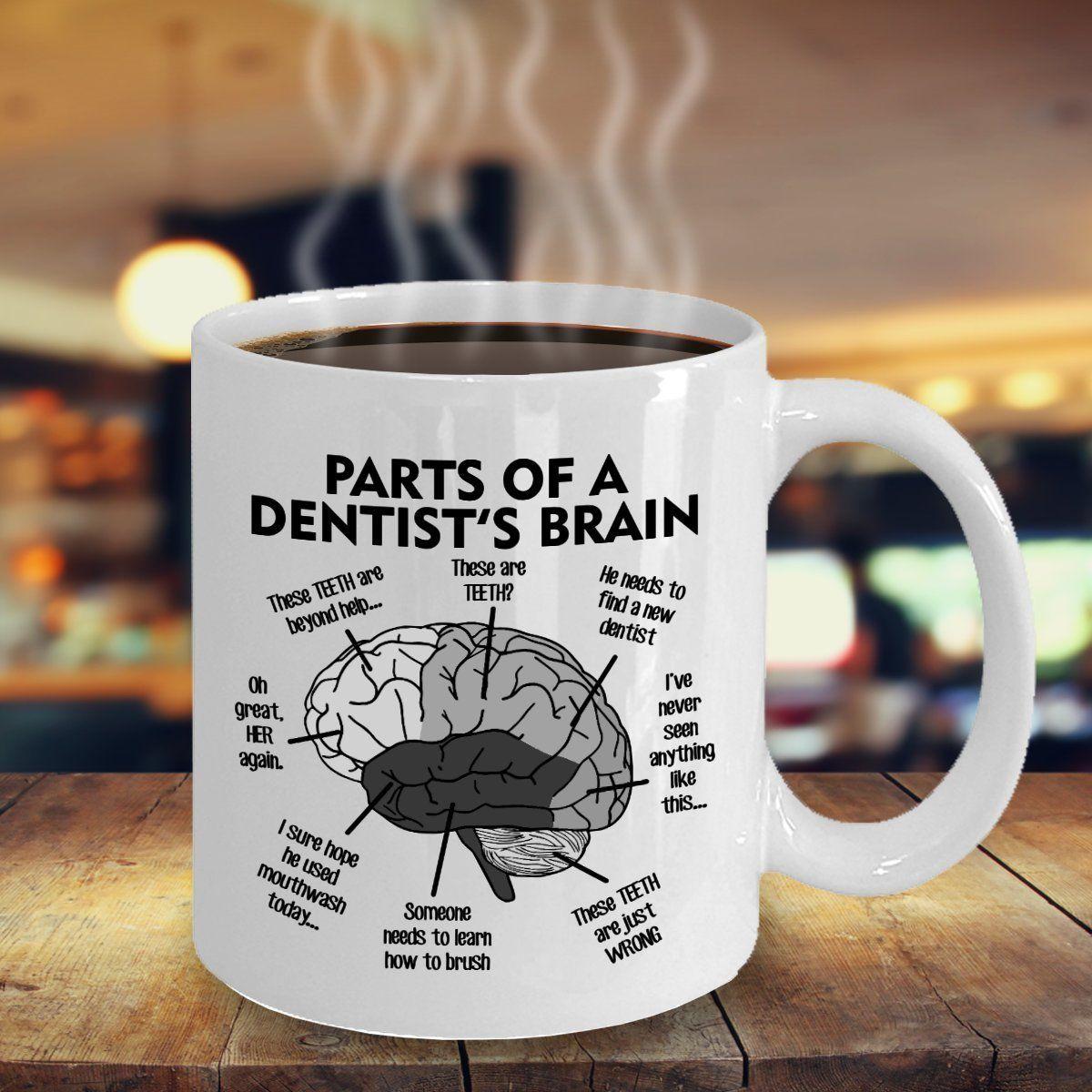 The Dentists Brain Mug 11oz Parts of a