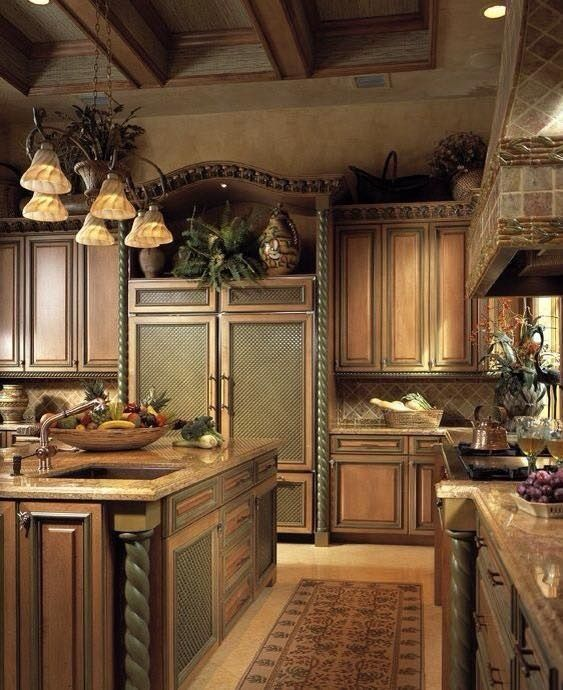 Tuscan Style Kitchen Cabinets: Love The Cozy Feel Of This Kitchen. Julianne McPeters No