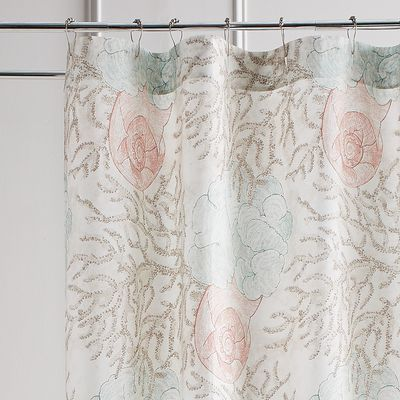 Our Coral Reef Shower Curtain Will Bring The Beauty Of