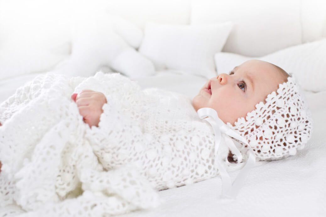 Gehäkeltes Taufkleid mit Mütze | Häkeln | Pinterest | Crochet ...