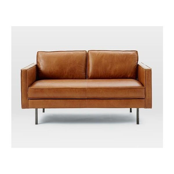 Marvelous West Elm Axel Leather Loveseat 1 519 Via Polyvore Unemploymentrelief Wooden Chair Designs For Living Room Unemploymentrelieforg