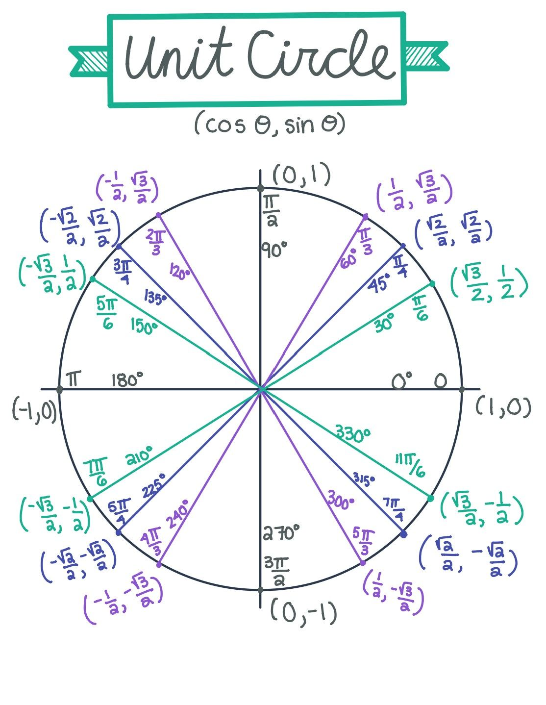 Unit Circle And Trigonometric Functions Graphs Guided