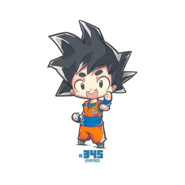Comment Dessiner Son Goku En Version Chibi Dragon Ball