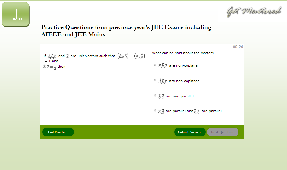 Jee Mentor S Practice Platform To Prepare For Jee Mains And Jee Advanced Examination You Can Practice Previous Years Question Papers Previous Year Question Paper Question Paper Jee Exam