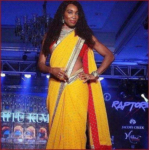 #VenusWilliams Rocks Sari And Shows Off Dan...
