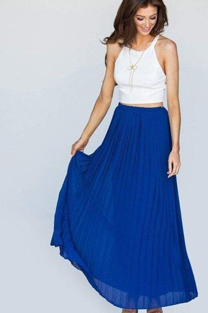 89341903ab Lucky Duck Cinderella Pleated Maxi Skirt. Lucky Duck Cinderella Pleated  Maxi Skirt Royal Blue Skirts ...