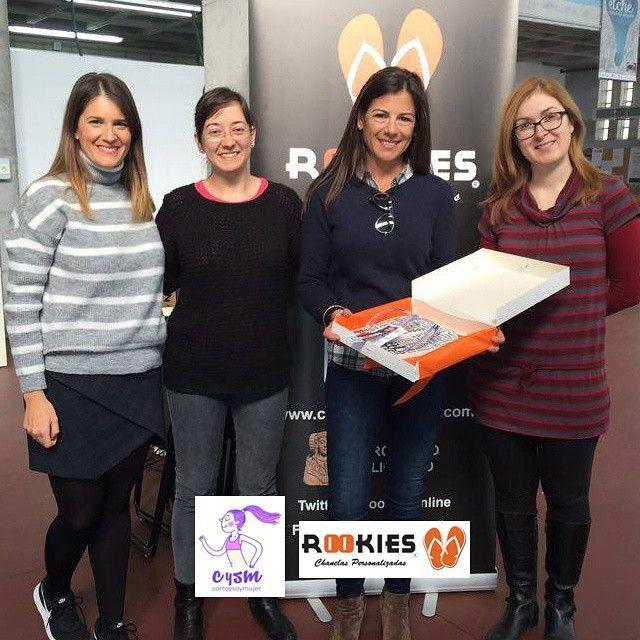 Cristina la ganadora del concurso que realizamos en colaboración con @corroysoymujer ya tiene sus chanclas de running. Que las disfrutes!!! #running #chanclaspersonalizadas #Elche