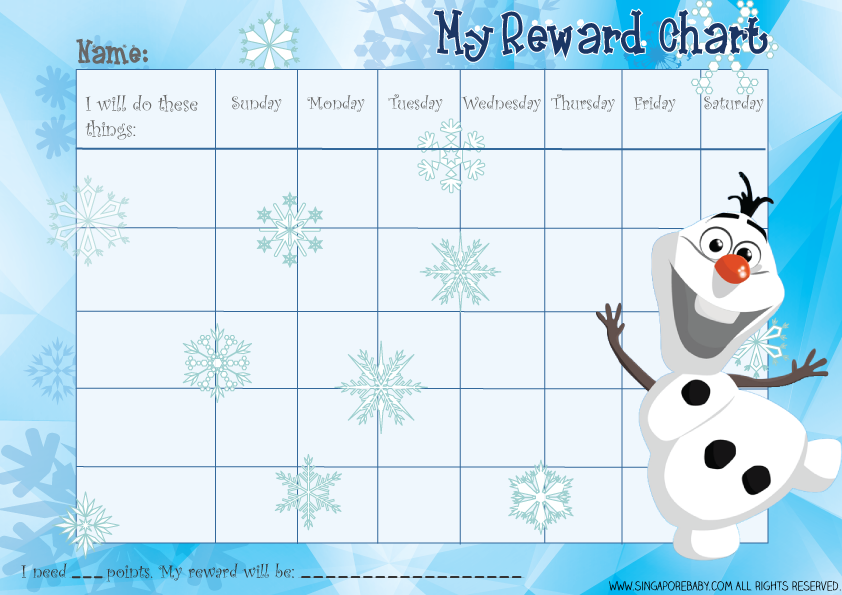 Frozen Reward Chart Olaf Download The Free Printable Pdf Olaf