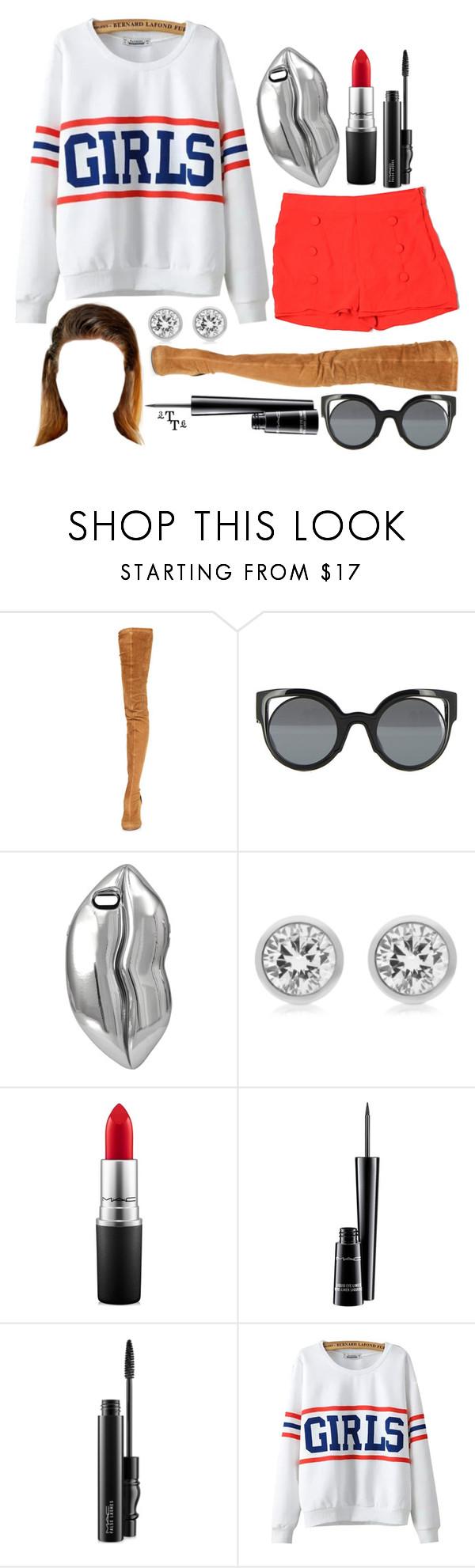 """Dream style 3"" by triple-threat36 ❤ liked on Polyvore featuring Maison Margiela, Fendi, STELLA McCARTNEY, Michael Kors, MAC Cosmetics, Chicnova Fashion and Moon Collection"