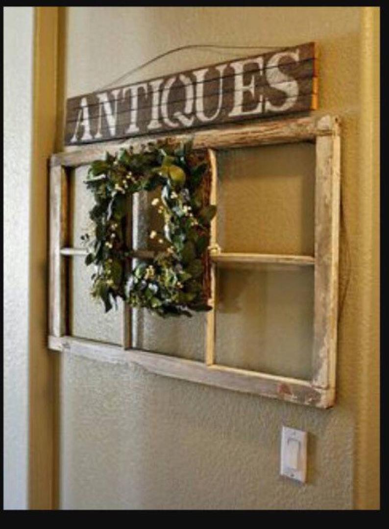 Custom Window 6 Pane Window Wreath Hanger Wreath Hanger 6 Or 8 Pane Window Decor Shabby 6 Pane Window Sash Six Pane Window Window Decor Window Wreath Window Crafts