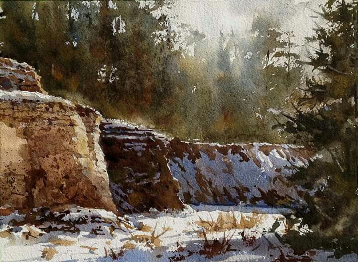 eric michaels lost canyon snow 9x12
