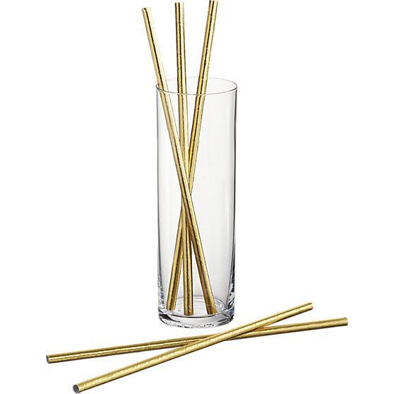 gold straws  | CB2