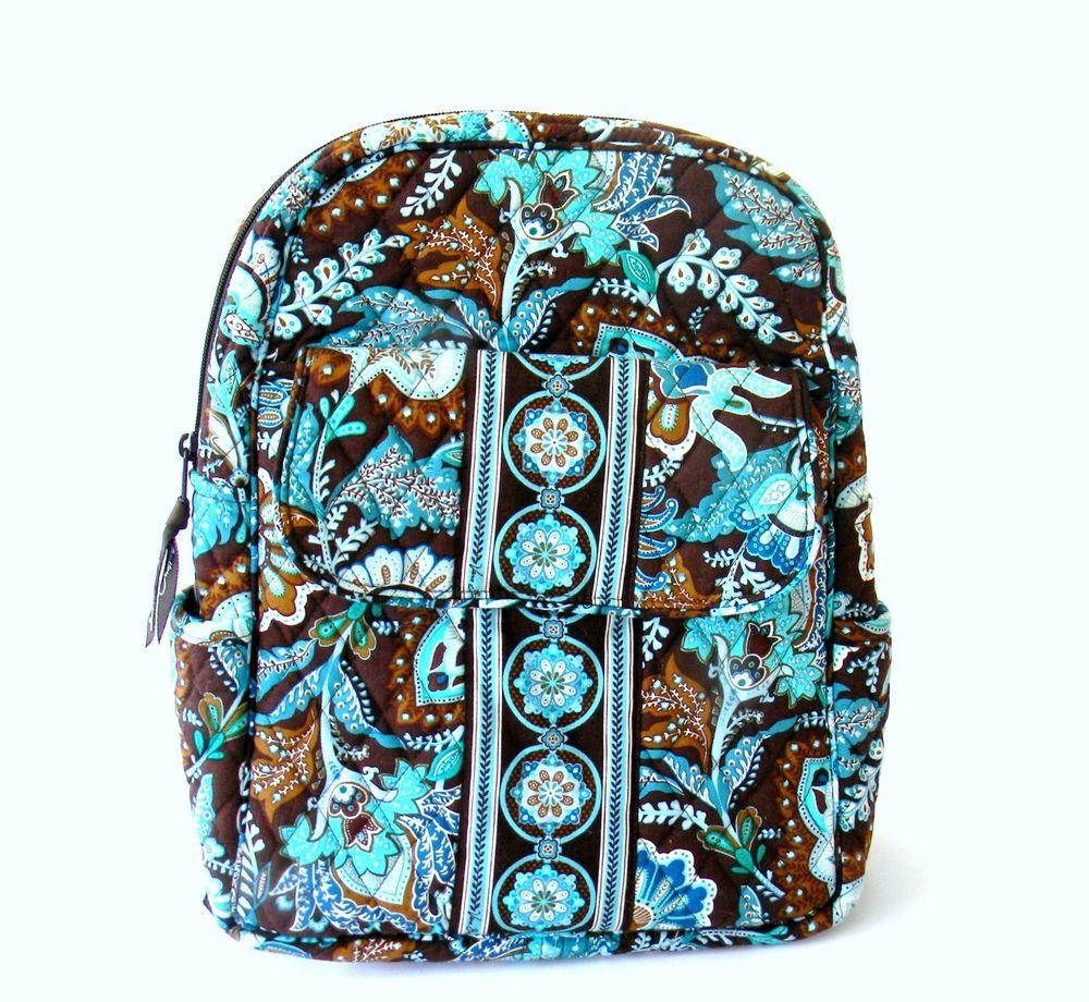 49d5bcde78 Vera Bradley Petite Backpack in Java Blue Discontinued Measurements 12