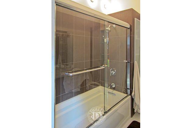 This Glass Shower Door Has Towel Bar Semi Fameless