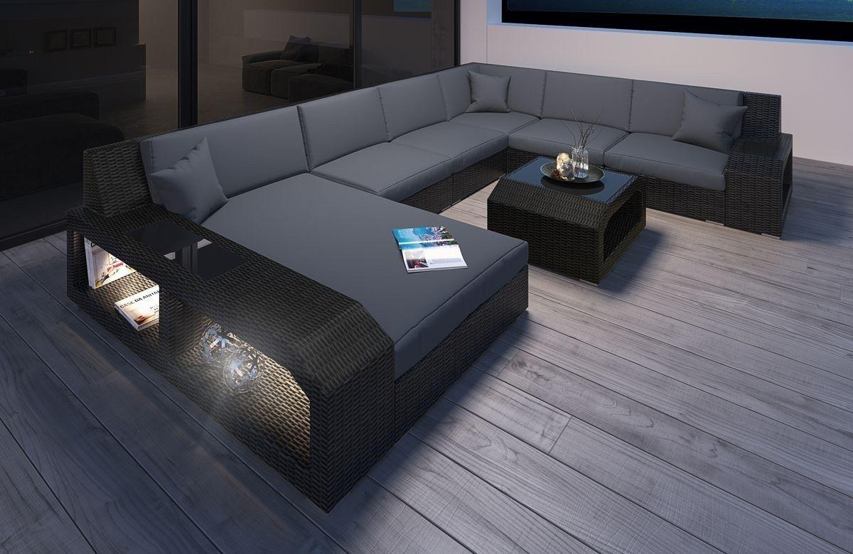 Rattan Sofa Matera Xxl Rundes Sofa Sofa Design Lounge Mobel
